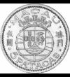 Monedă colonială, 5 pataca, argint, Macao, 1952