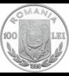 Canotaj pe argint, 100 lei, argint, România, 1996