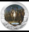 5 dolari  Bătăliile victorioase ale lui Napoleon  pictată  placată cu argint  Liberia  2011  În urmă cu 200 de ani  pe 5 mai 1821  împăratul Napoleon Bonaparte a murit în exil pe insula Sf. Elena.