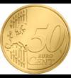 Regele Mihai I, 50 cenţi, motiv colorat
