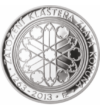 200 coroane Mănăstirea Coroana de Aur  argint de 925/1000  Cehia  2013 Monedă comemorativă splendidă  care înfăţişează una dintre cele mai vechi mănăstiri din Cehia  numită Coroana de Aur. Conform legendei  în această mănăstire s-a păstrat o spină d