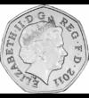 50 pence  Marea Britanie  2012  Meghan Markle şi prinţul Harry s-au căsătorit pe 19 mai 2018. Au trecut numai doi ani şi au luat decizia de a se retrage din casa regală.