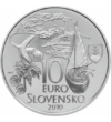 Martin Kukučín, medic, scriitor, 10 euro, argint de 900/1000, Slovacia, 2010