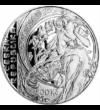 200 coroane  Alfons Mucha  argint de 900/1000  Cehia  2010 Anul acesta ar fi împlint 160 de ani marele maestru al secesionismului  Alfons Mucha. Picturile artistului ceh au putut fi admirate şi la noi  în Muzeul Naţional Cotroceni. Amintirea sa este