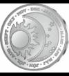 """medalie din argint  """"Fată de iepuraş"""" - medalie din argint pur  argint de 999/1000"""