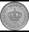 """2 lei  România  1941 - Regele Mihai I şi-a exprimat dăruirea  sentimentul de datorie şi mândria faţă de ţara noastră prin înfăţişarea Coroanei României şi inscripţia """"Regatul României"""" pe moneda de 2 lei  bătută la Monetăria Statului în Bucureşti."""