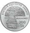 200 kč Biserici de lemn Vlkolínec Ag Slovacia