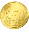 Minunile lui Iisus, Umblarea pe mare - monedă pictată, 50 cenţi, UE