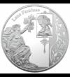 Elogiu femeii - Jean-Antoine Watteau - Diana la scăldat, medalie placată cu argint