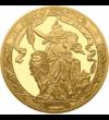 Regele Carol I, medalie comemorativă românească, placată cu aur