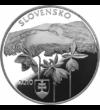 Pădure primordială europeană la granița a trei țări, 20 EUR, argint, Slovacia, 2010