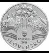 10 euro  argint de 900/1000  Slovacia  2011 - Mişcarea revoluţionară slovacă a început în anul 1848 cu un memorandum  care a exprimat voinţa slovacilor de a exercita autonomia naţională  dezvoltarea liberă a vieţii naţionale slovace şi au cerut  de