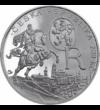200 coroane  Regele căutând Piatra filozofală  argint de 925/1000  Cehia  2012 Excentricul monarh şi împărat  Rudolf al II-lea a fost cu adevărat interesat de ştiinţă  dar şi de alchimie. La curtea sa au trăit Kepler  Löw Rabbi şi mulţi alchimişti