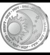 // medalie din argint  Septembrie! Cad frunzele... cad şi preţurile! - medalie din argint pur  argint de 999/1000   //