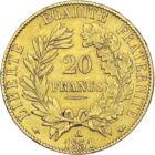 Zeiţa Ceres, pe monedă din aur, 20 franci, aur, Franţa, 1849-1851