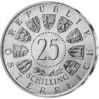 19 monede de şilingi de argint din Austria, 19x25 şilingi, argint, Austria, 1955-1973