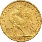 Marianne din aur, 20 franci, aur, Franţa, 1901-1914