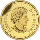 Iepurele polar, 25 cenţi, aur, Canada, 2017