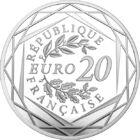 Marianne, simbolul fraternităţii, 20 EUR, argint, Franţa, 2019