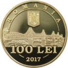 Parteneriat strategic între România şi SUA, 100 lei, aur, România, 2017