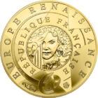 Leonardo, omul de ştiinţă, 5 EUR, aur, Franţa, 2019