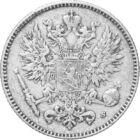 Ultimul argint a Marelui Principat Finlandez, penniä , argint, Marele Principat al Finlandei, 1865-1917