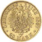 Wilhelm I – Părintele Imperiului German, 20 mărci, aur, Imperiul German, 1871-1888