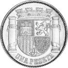 Succesul sângeros al lui Franco, 1 peseta, argint, Spania, 1933