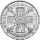 Moneda imperială unică de argint, 1 florin, argint, Marea Britanie, 1927-1936