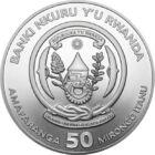 500 de ani de la călătoria în jurul lumii, 50 franci, argint, Ruanda, 2019