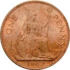 Cea mai bună regină, 1 penny, Marea Britanie, 1967