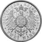 Germania în Primul Război Mondial, 2 mărci, argint, Germania, 1913