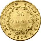 Aurul lui Napoleon, 20 franci, aur, Franţa, 1806-1807