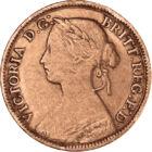 Monedă de 150 de ani, 1 farthing, Marea Britanie, 1860-1873