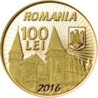 Iancu de Hunedoara, 100 lei, aur, România, 2016