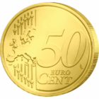 Sf. Apostol Andrei - monedă pictată, 50 cenţi, UE