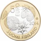 Natura Nordului, 5 euro, bimetal, Finlanda, 2014