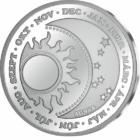 Ianuarie, medalie aducătoare de noroc, argint pur