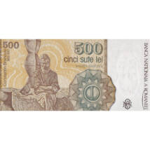Constantin Brâncuşi, 500 lei, România, 1991
