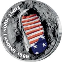 Urme de om pe Lună, 25 cenţi, SUA, 2004