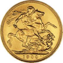 // 1/2 sovereign, aur de 917/1000, Marea Britanie, 1893-1901 // - Una dintre cele mai vechi dinastii ale Europei este casa britanică de Windsor. Primul şi cel mai influent monarh a fost Regina Victoria, cu toate că strănepoata sa, Elisabeta a II-a, aproap