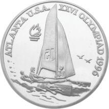 // 100 lei, argint de 925/1000, România, 1996 // - Anul 1996 a fost un an memorabil pentru România la Jocurile Olimpice, care s-au desfăşurat la Atlanta, SUA. Sportivii români au obţinut în total 20 de medalii, aşadar ţara noastră s-a clasat pe locul 14 î