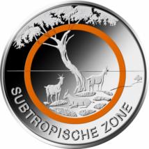 Zonă subtropicală, 5 euro cu inel, Germania, 2018