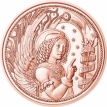 // 10 euro, Arhanghelul Gabriel, cupru, nichel, Austria, 2017 // În orice religie îngerii sunt îndrumători cereşti. Arhanghelul Gabriel a fost cel care a despărţit apele Mării Roşii în faţa lui Moise, a adus Fecioarei buna-vestire, iar conform islamului,