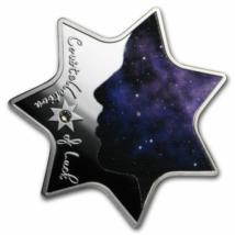 // 1000 franci CFA, Constelaţia norocului din argint pur, Ag 999, Camerun, 2019 // Este un fapt extraordinar, dacă v-aţi născut sub o stea norocoasă. Acum aveţi ocazia de a vă procura acestă minunată stea din argint! Dăruiţi un cadou minunat celor dragi,
