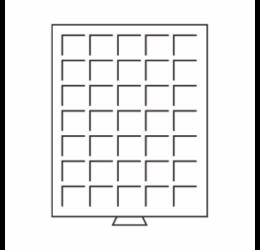 Tăvi pentru păstrarea monedelor - pentru cufăr (35 x Ø 27 mm2 €)