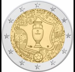 Monedă oficială euro în amintirea CE de Fotbal, 2 euro, Franţa, 2016