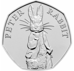 50 pence, Peter Iepuraşul, 2019 Marea Britanie