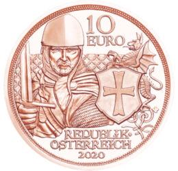 Cavaleri templieri, 10 euro, Austria, 2020