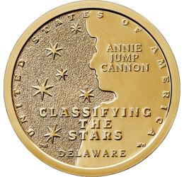 """""""Doctoriţa"""" astronomiei, Inovatori americani - Delaware, 1 dolar, SUA, 2019"""